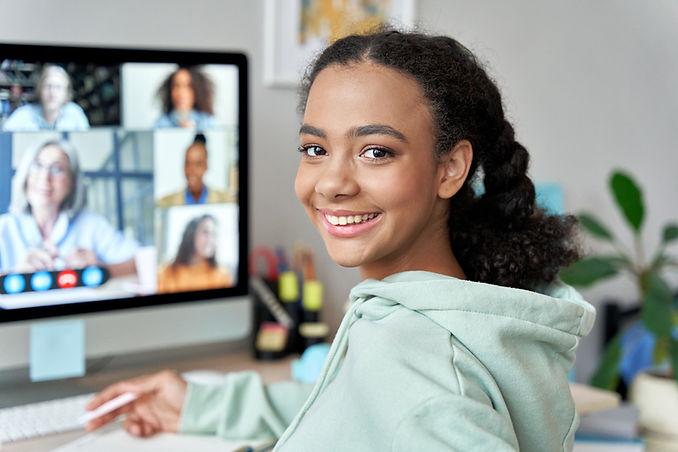 Teenage mixed race girl high school stud