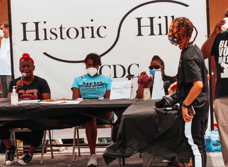 This past Saturday we showed up to Historic Hills for an amazing voters registration event!