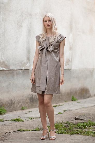 Kleid Satin single bow