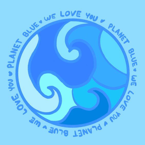 We want to share some love for our blue planet! Did you know more than half of the Earth is covered by water? Water is critical to life as we know it and it is up to us to preserve this natural resource.