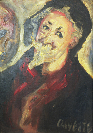 Self Portrait in red shirt
