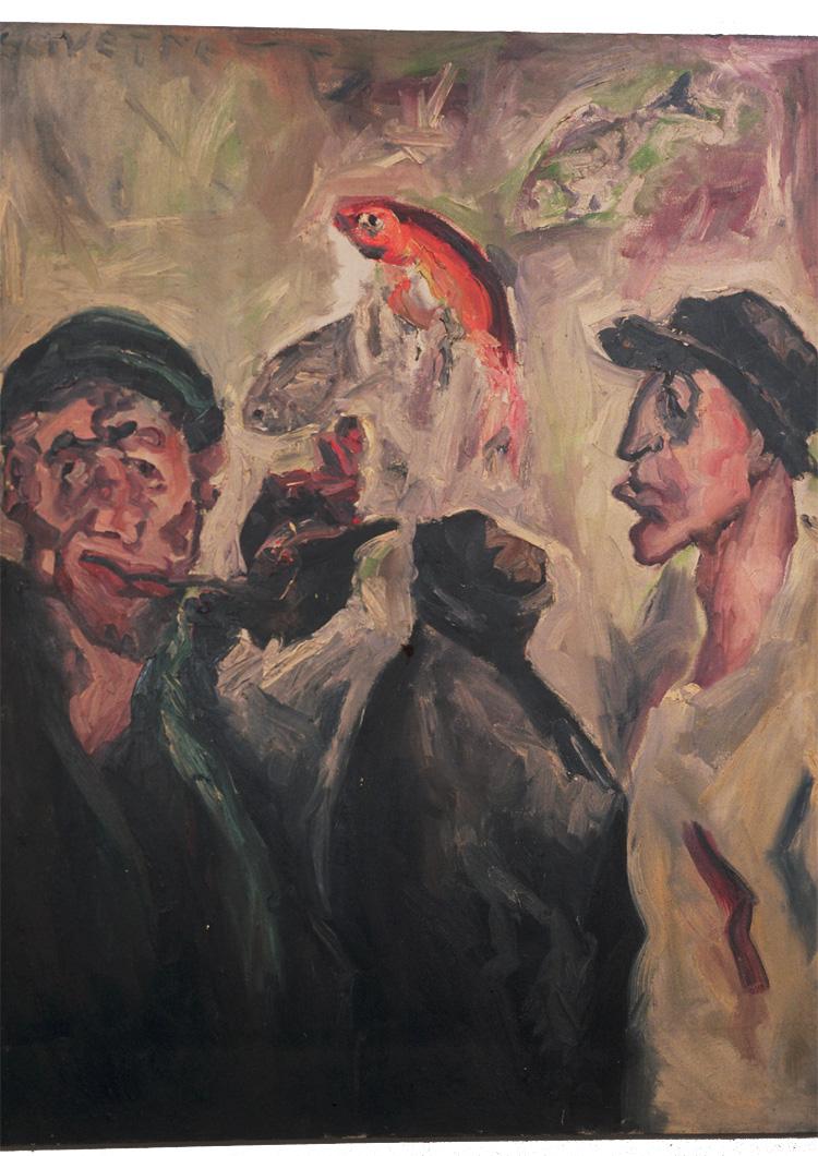 Men at the Aquarium
