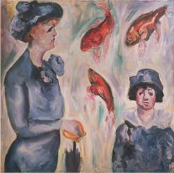 Woman and Child at the Aquarium
