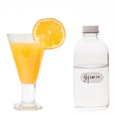 Orange juice + Glycerin