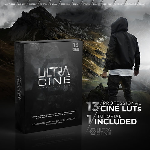 """LUTs PACK """"ULTRACINÉ"""" by Stéphane Couchoud"""