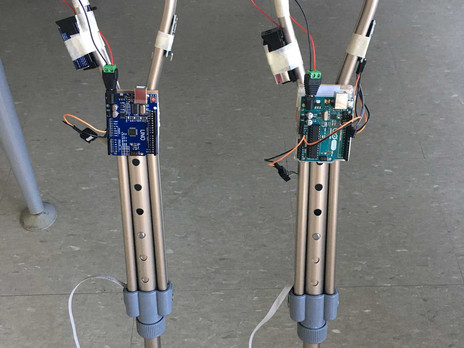 Crutches Fitted with Arduino and Accelerometer