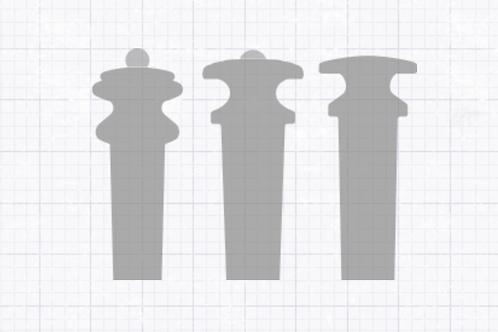 Violin Endpin -  Various styles - Teller