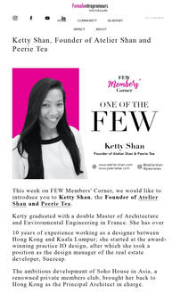 Ketty Shan, Founder of Atelier Shan and