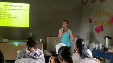 Fitness seminar for the women of Trojes.