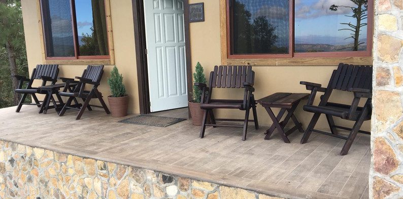 Sitting areas can be found throughout the compound for relaxing and quiet times