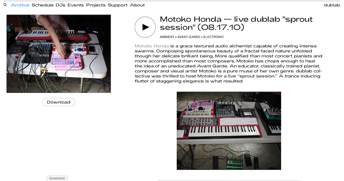 2010_08_17 Motoko@Dublab Website.png
