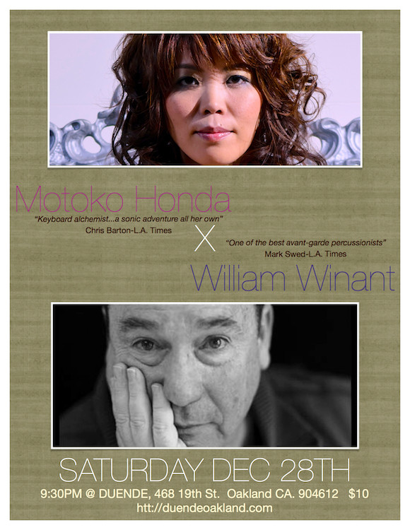 Motoko Honda and Willie Winant in concert @ Duende, Oakland, CA ecember 28th 2013