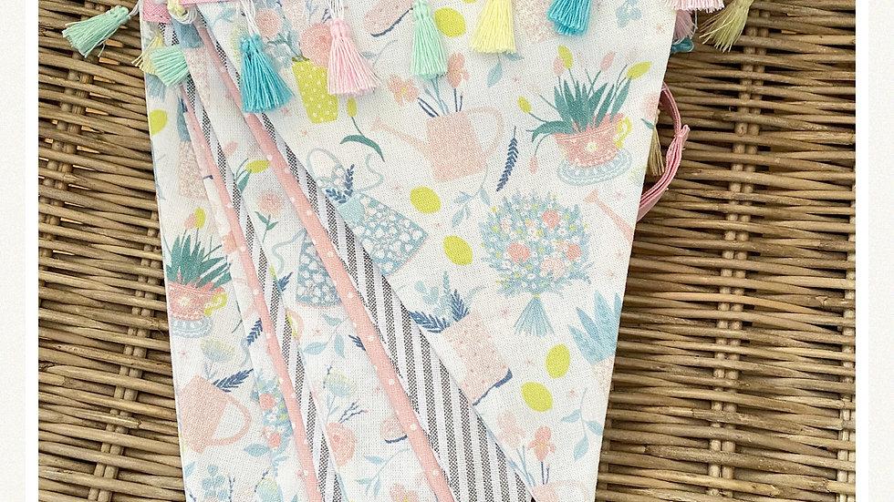 Floral garden design bunting