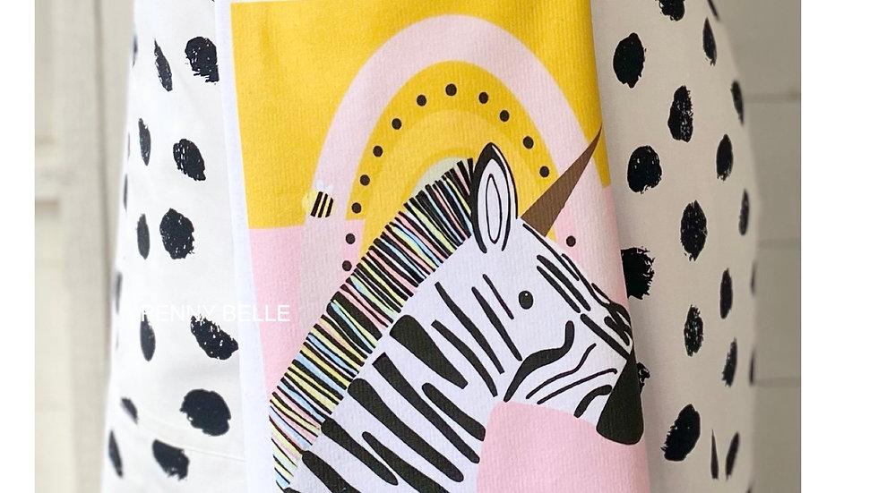 Florence the Zebra Tea Towel