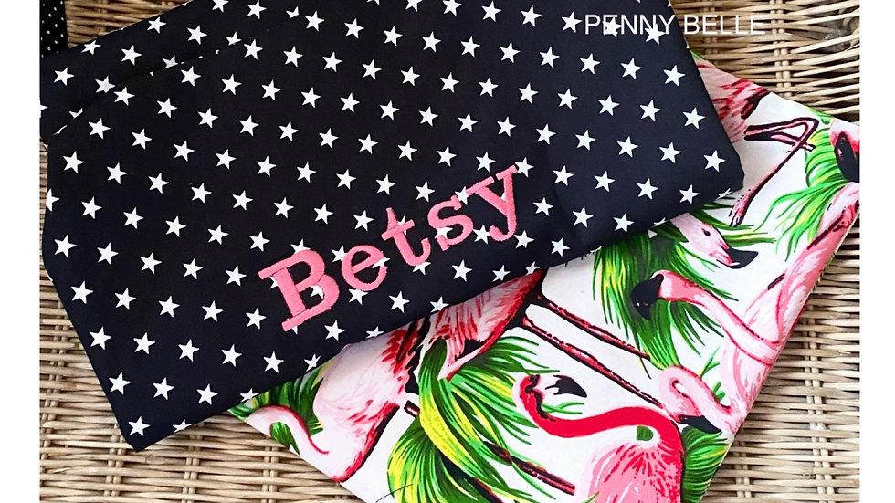 Personalised Children's star apron & flamingo bag