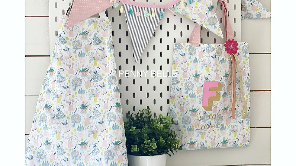 Children's Flower print Apron