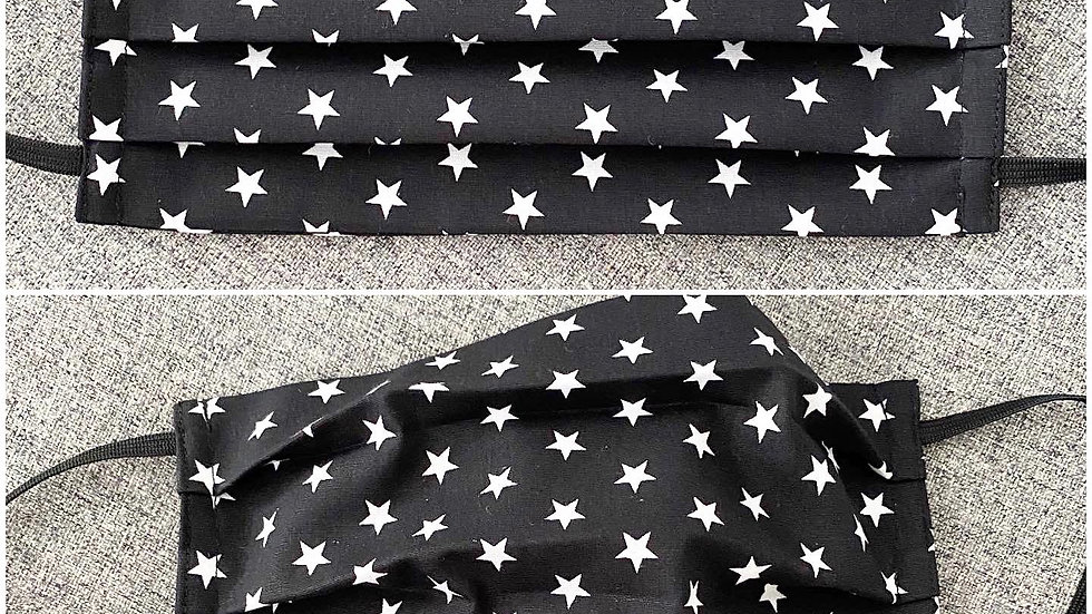 Black & white star  Adult face covering