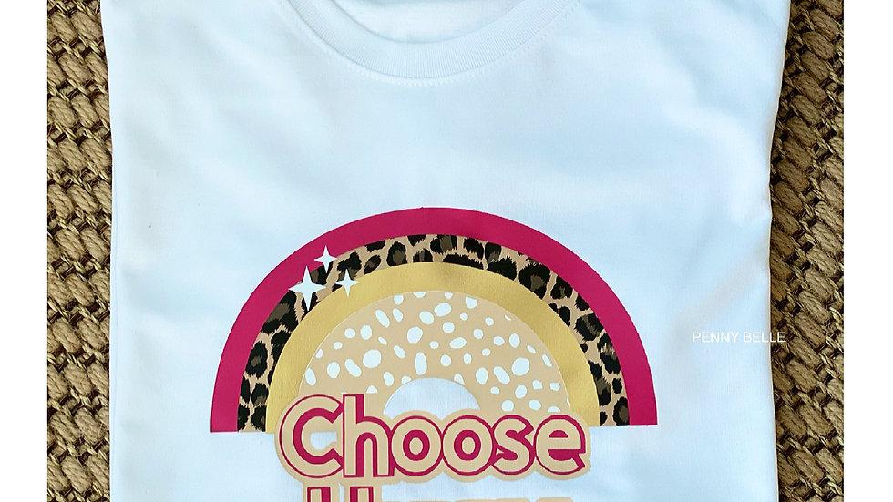 Choose Happy Rainbow T-shirt