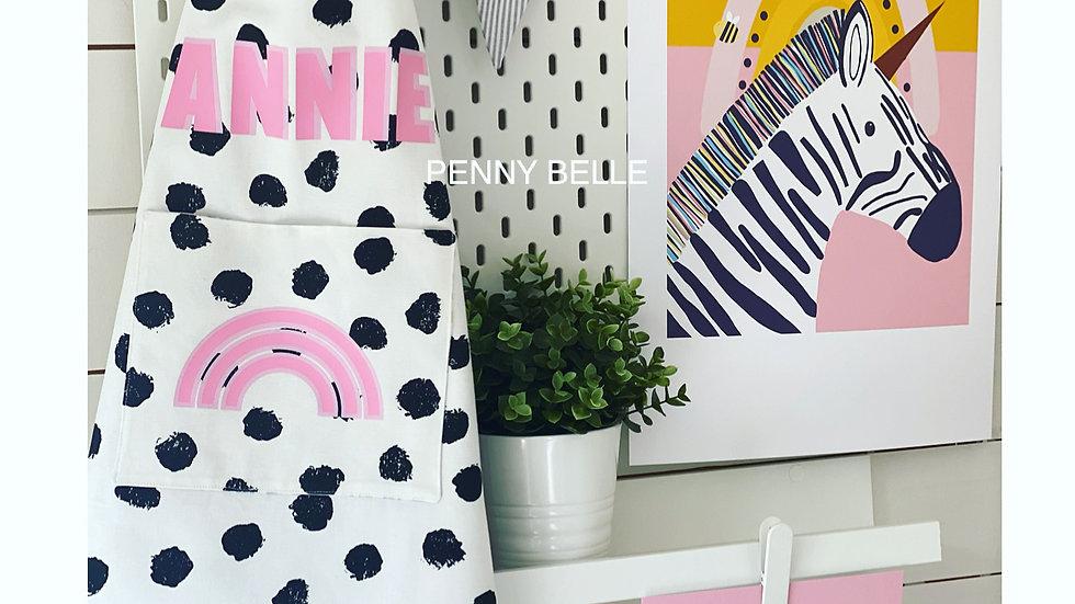 Black & White Children's Dotty apron