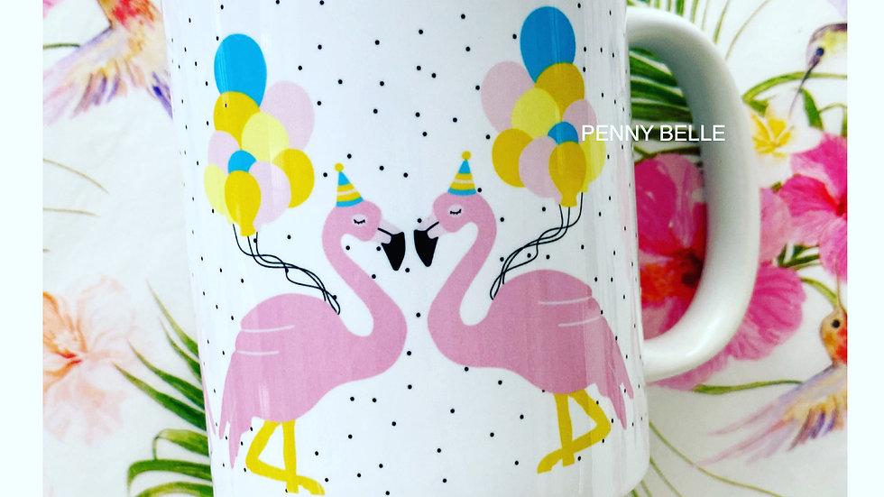 Rosa the flamingo mug