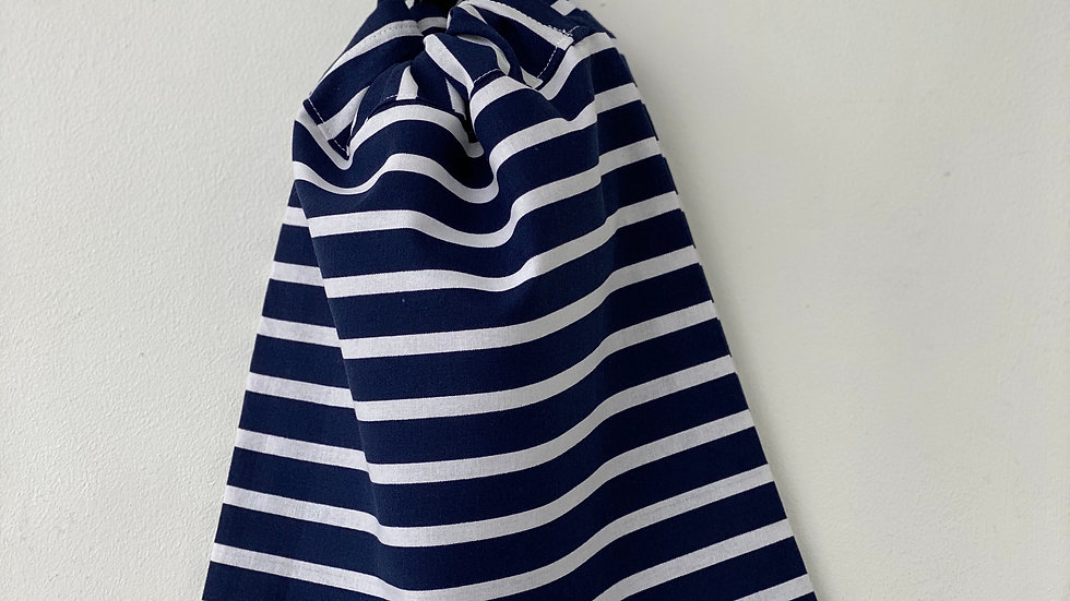 Navy & White stripe Toiletry bag
