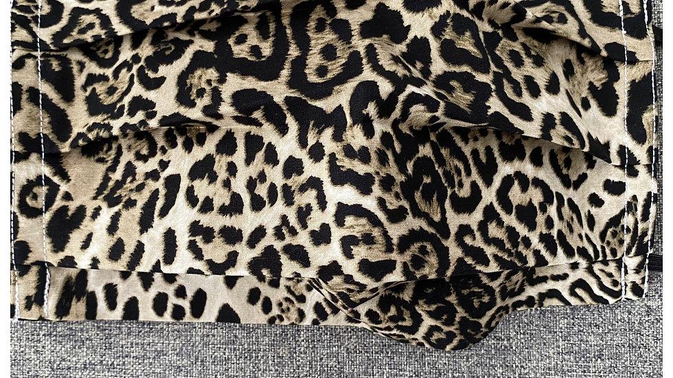 Caramel Cheetah face covering