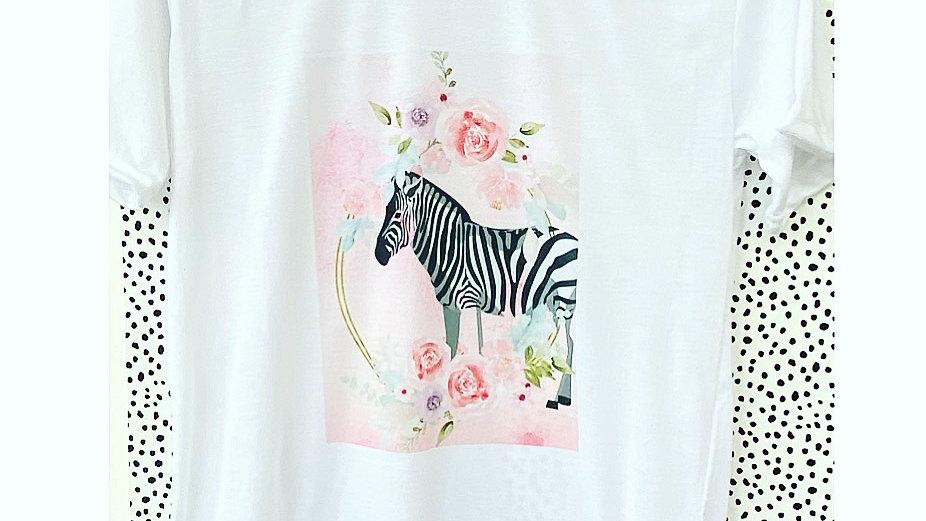 Children's Zebra pastel print t-shirt