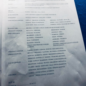 Example of a casting sheet