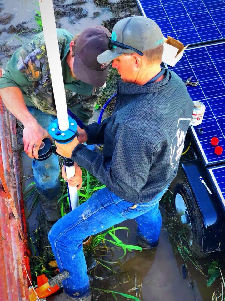 Installing water well pump