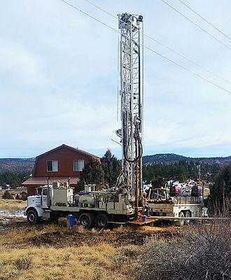 water well drilling rig in Utah
