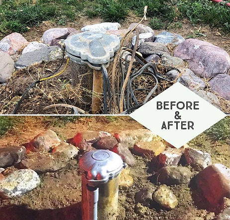 Well Pump Camp Replacement Before and After