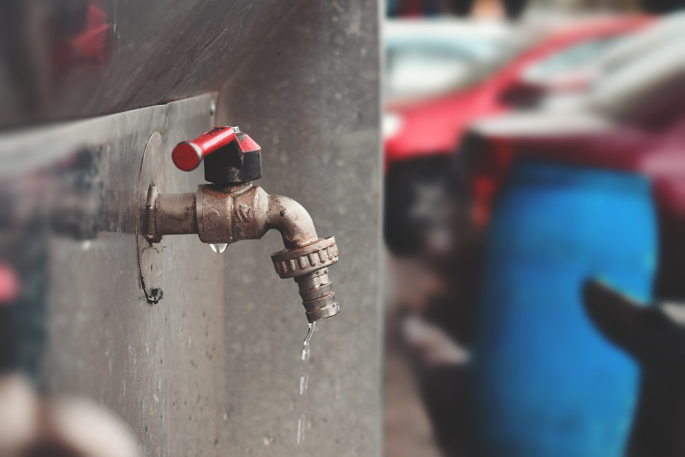 Tap dripping water