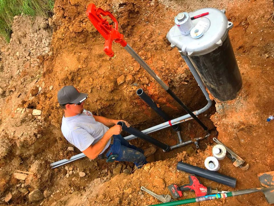 Artesian water well installation