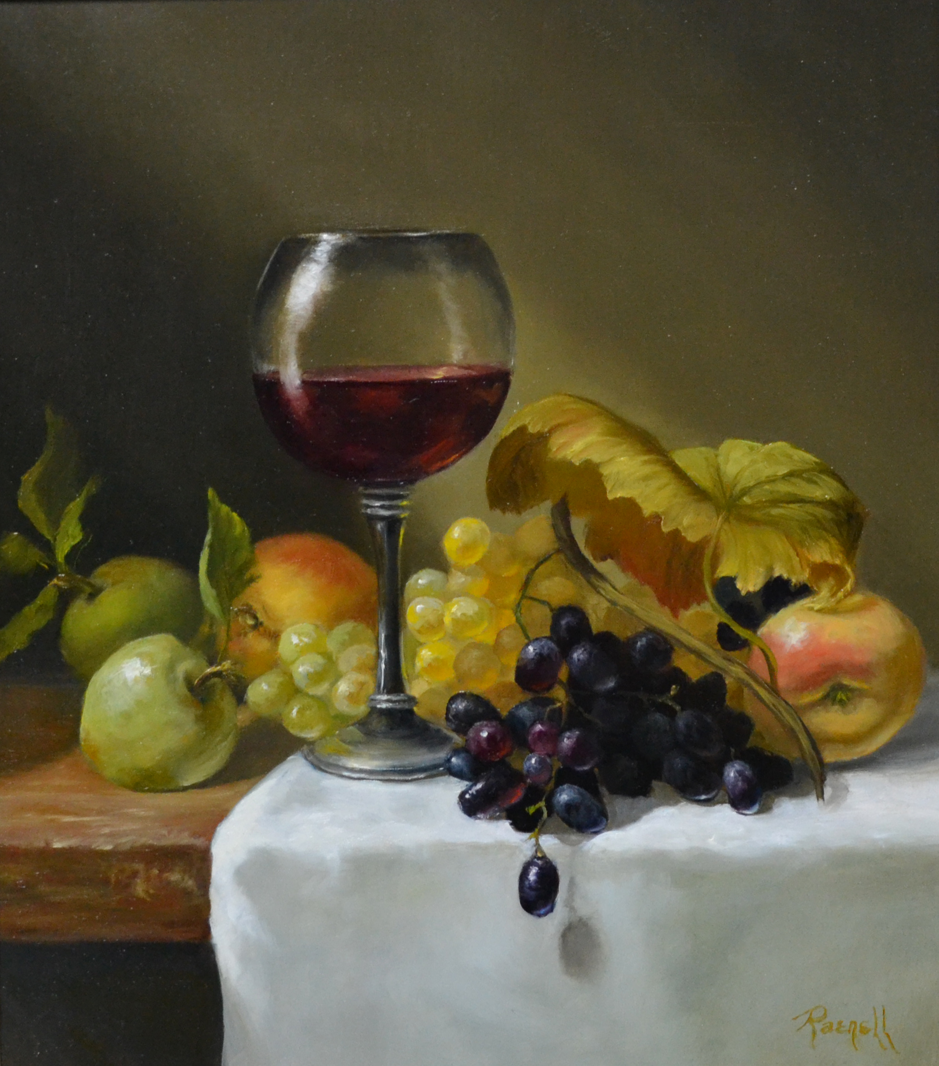 Wine with Fruit 16x14