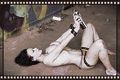 carr street photo shoot graffitti pandora lamour naked dirty