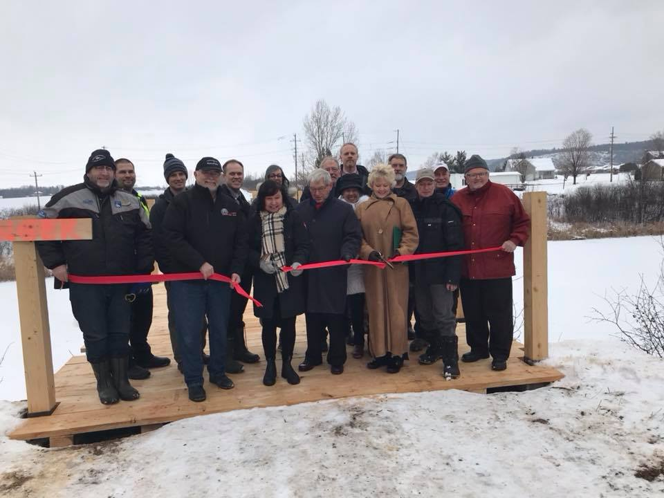 Grand opening - over the Bonnechere River in Renfrew