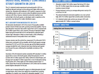 NKF 4Q19 National Industrial Market Report