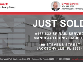 ±168,832 SF Rail Served Manufacturing Facility SOLD!