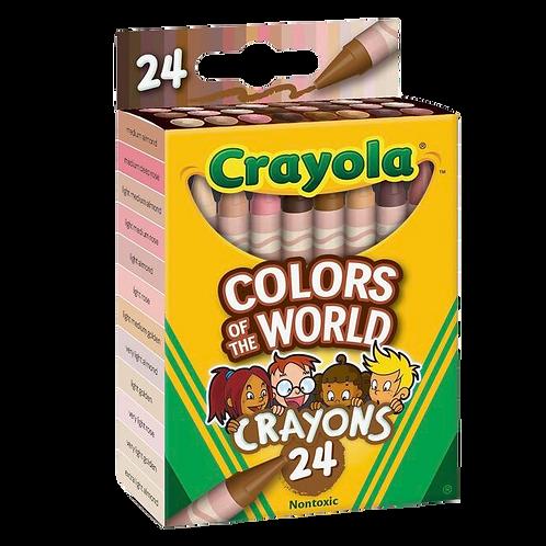 Melanin Flesh Tone Crayons (24ct)