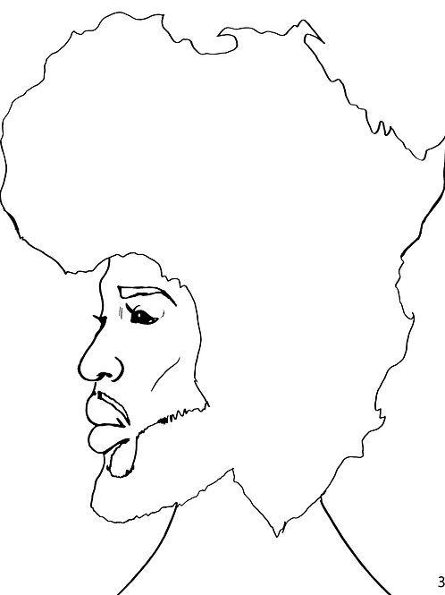 Pre-Sketched King Melanin Canvas