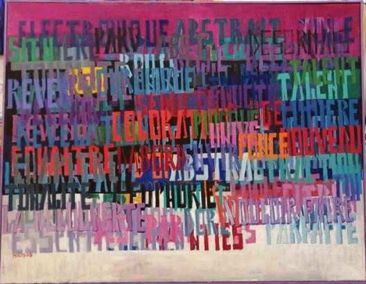 Sans titre, huile sur toile 113x145 cm