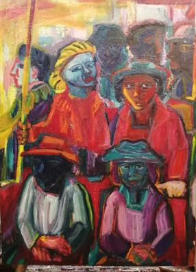 Metro, huile sur toile. 89x120 cm. 1988.