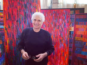 Corradino Mineo en visite à l'atelier de Mira Maodus