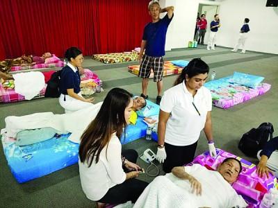 免感染传染病 促灾民加强卫生措施