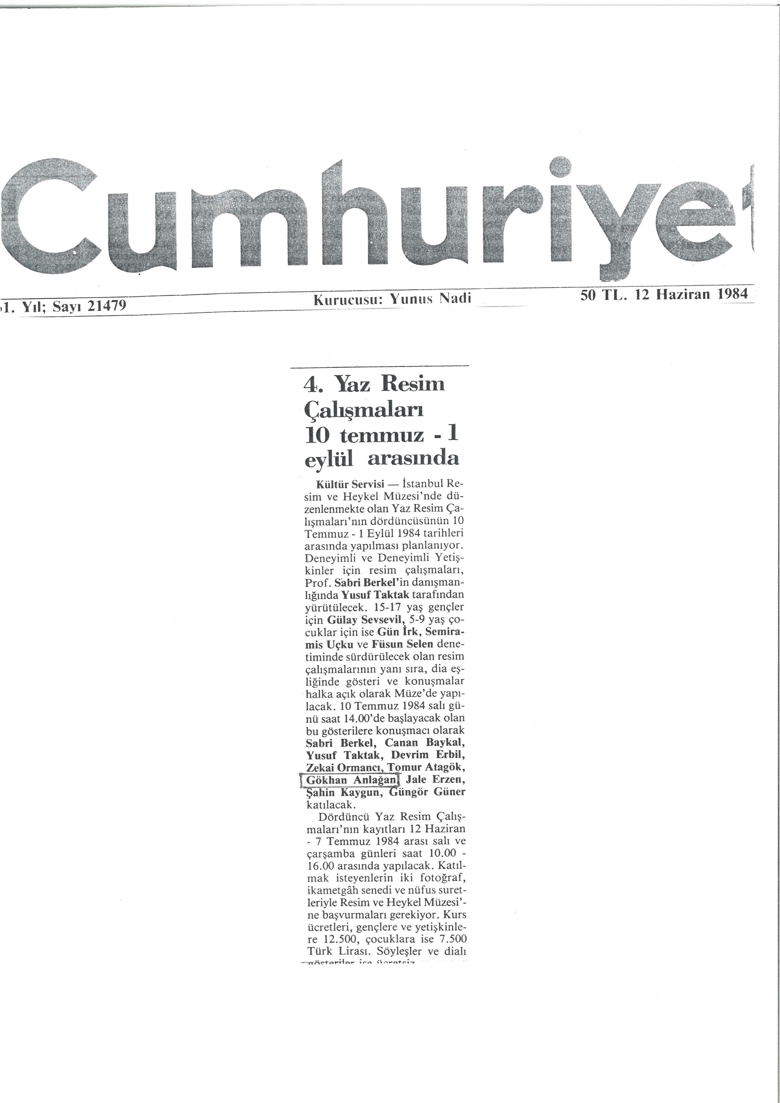 Cumhuriyet 1984