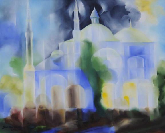 Mavi Cami - Tuval Üzerine Yağlı Boya – 2