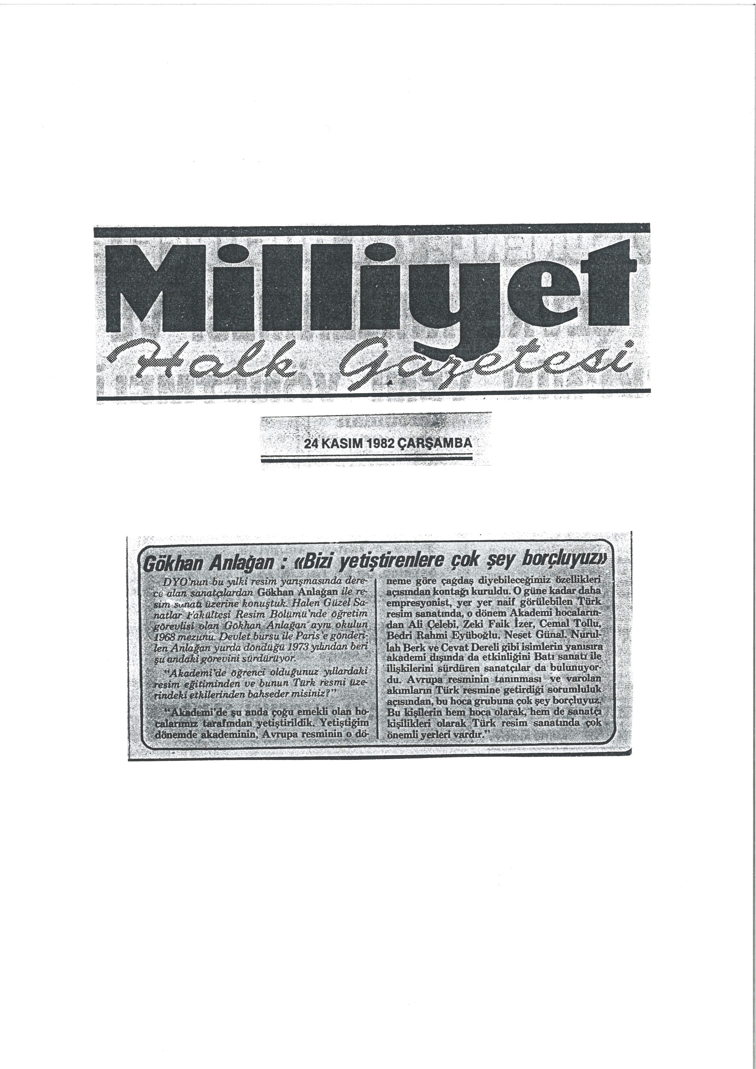 Milliyet 1982