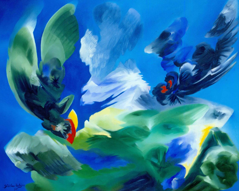 Kuşlar - Tuval Üzerine Yağlıboya - 1998