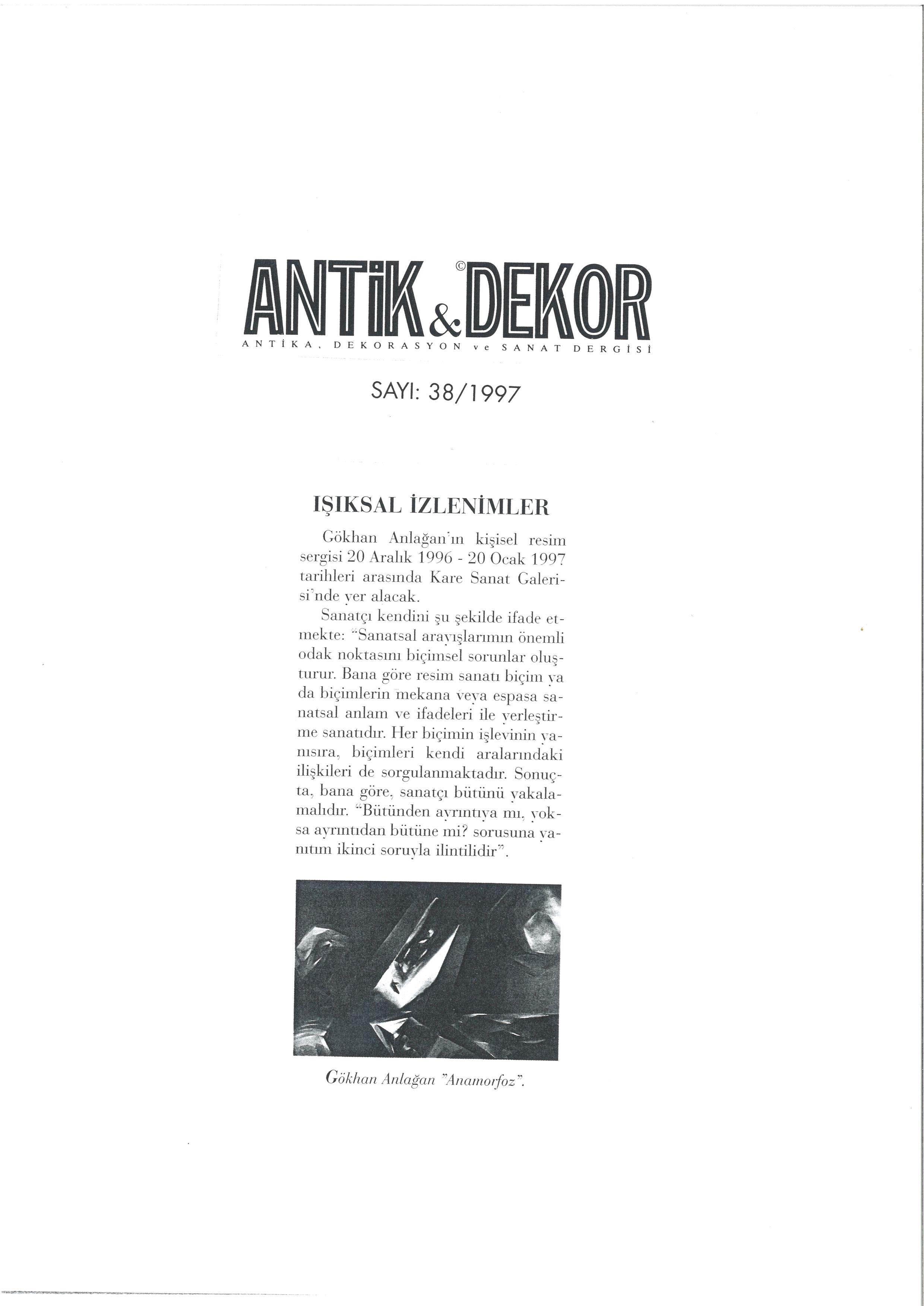 Antik Dekor 1997