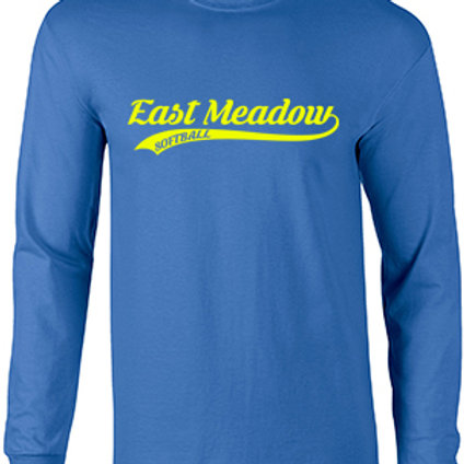 East Meadow Softball Script - Long Sleeve Dry Fit